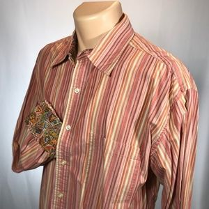 Robert Graham XL Shirt Mens Size X Large Flip Cuff